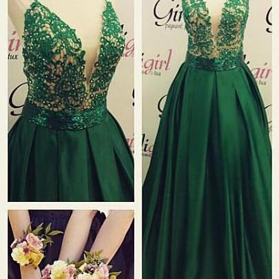 New Arrival Prom Dresses,Green Prom..
