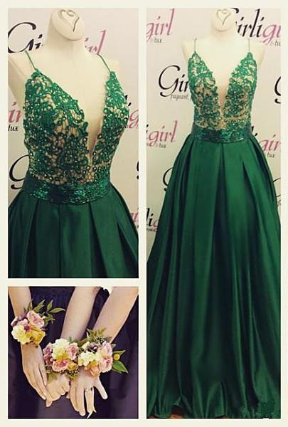 New Arrival Prom Dresses,Green Prom Dresses,Sweet 16 dresses,Lace Graduation Gowns, Tulle prom Dresses