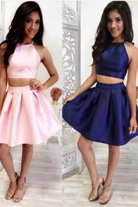 Homecoming Dresses,Simple Two Pieces Homecoming Dresses,High Quality Short Homecoming Dress,Handmade Cheap Prom Dresses,Party Dresses