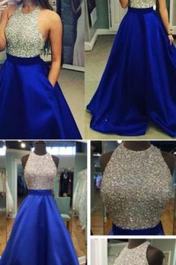 New Arrival Prom Dress Evening Dress Prom Gowns, Formal Women Dresses,royal blue Party Dress,Royal Blue Prom Dresses,Long Prom Dresses