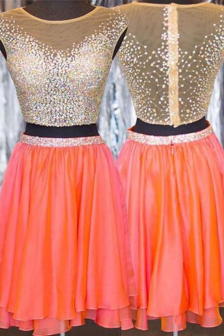 Homecoming Dresses Short Prom Dresses,2 pieces Homecoming Dresses,Sparkly Homecoming Dress,Pretty Party Dresses,Cute Dresses
