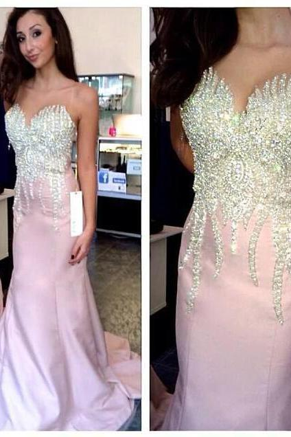 Simple Prom Dresses,Prom Dresses,Charming Prom Dress,Sexy Prom Dress,pink Prom Dress,Long Evening Dress,Formal Gown
