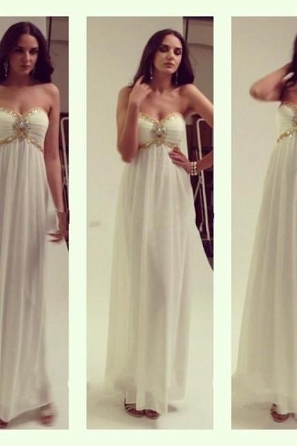 Simple Prom Dresses,Prom Dresses,Charming Prom Dress,Sexy Prom Dress,white Prom Dress,Long Evening Dress,2017 new Formal Gown