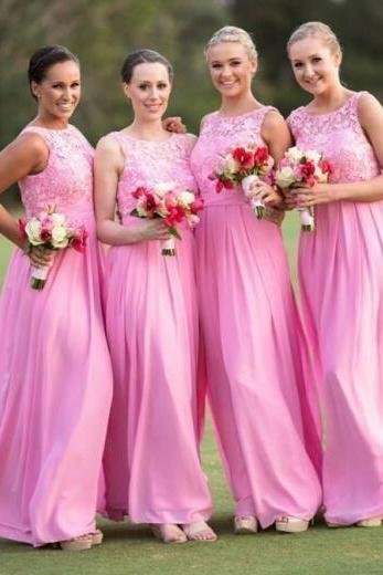bridesmaid Dress,Charming Prom Dress,Beautiful Bridesmaid Dresses,A line Bridesmaid Dresses,Light Pink Bridesmaids Dresses,Long Chiffon Bridesmaids Dresses,Cheap Bridesmaids Dresses,