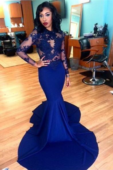 Simple Prom Dresses,Prom Dresses,Charming Prom Dress,Sexy Prom Dress,Royal Blue Prom Dress,Long Evening Dress,2017 new Formal Gown