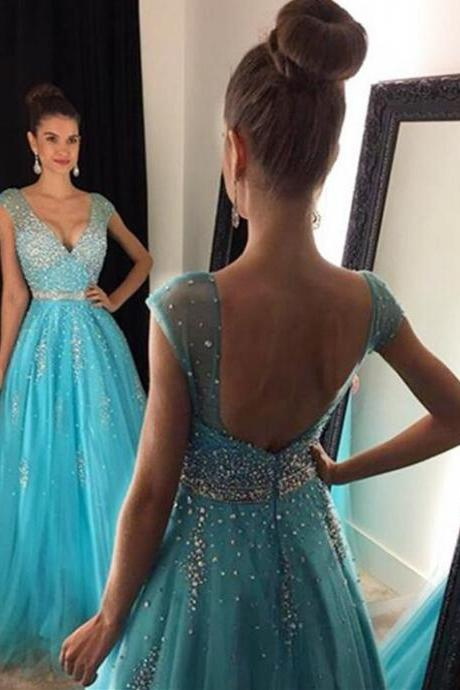 Simple Prom Dresses,Prom Dresses,Charming Prom Dress,Sexy Prom Dress,Blue Prom Dress,Long Evening Dress,2017 new Formal Gown