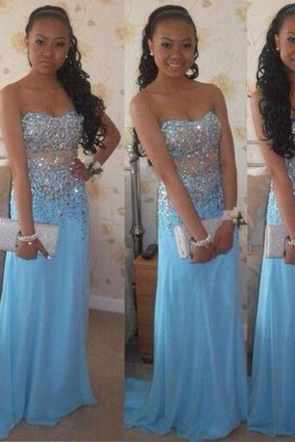 Simple Prom Dresses,Prom Dresses,Charming Prom Dress,Sexy Prom Dress,A Line Beading Prom Dress Sweetheart Sleeveless Sweep Train Long Party Dress Formal Gowns