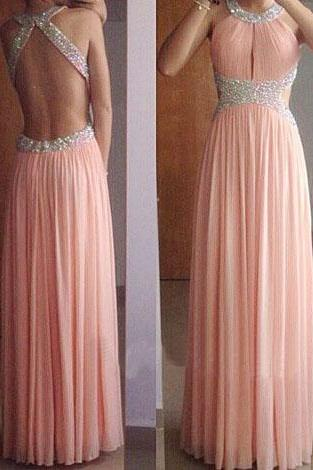 prom dresses,open backs evening gowns,blush pink prom gowns,backless 2017 evening dress