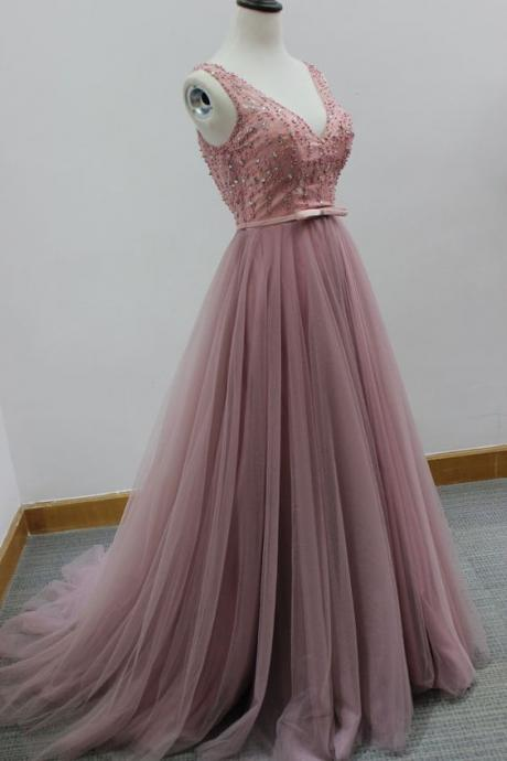 2017 New Arrival Long Prom Dress Sleeveless Backless Evening Gowns lace Formal Dress