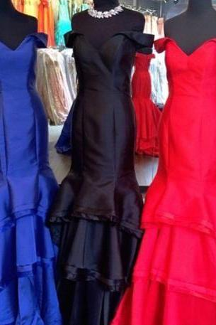 New Arrival Fashion Sweetheart Prom Dresses Backless Long Formal Evening Party Gowns Mermaid off the shoulder prom gowns