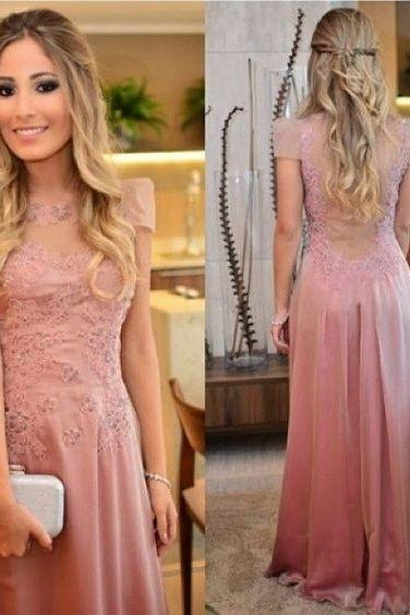 2017 New Arrival Pink Prom Dress,Long Prom Dress,Prom Gowns,Prom Evening Dress,A line Evening Dress,Formal Dress,Party Dress,Prom Dress 2016,Prom Dress