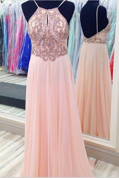 Sexy Prom Dress,Prom Dresses,Pink Prom Dress,Chiffon Prom Dresses,Sexy Dress,Charming Prom Dress,Formal Dress,simple Prom Gown For Teens