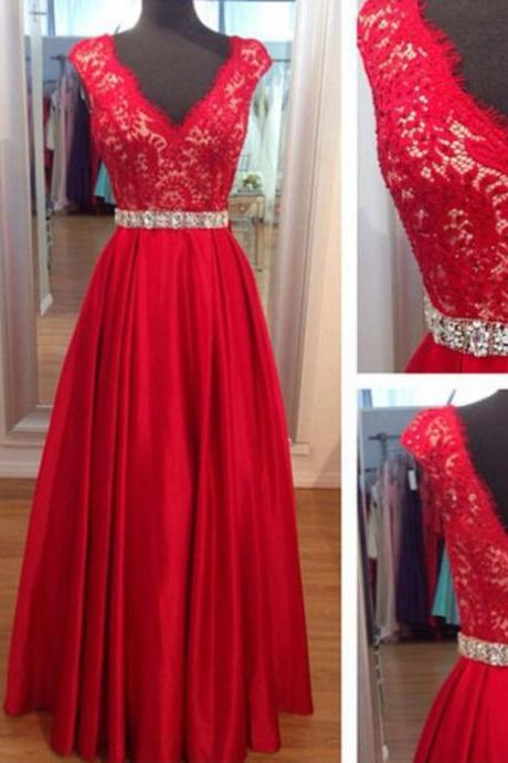 Sexy Prom Dress,lace Prom Dresses,modest Prom Dress,2017 Prom Dresses,Sexy Dress,Charming Prom Dress,Formal Dress,red Prom Gown For Teens