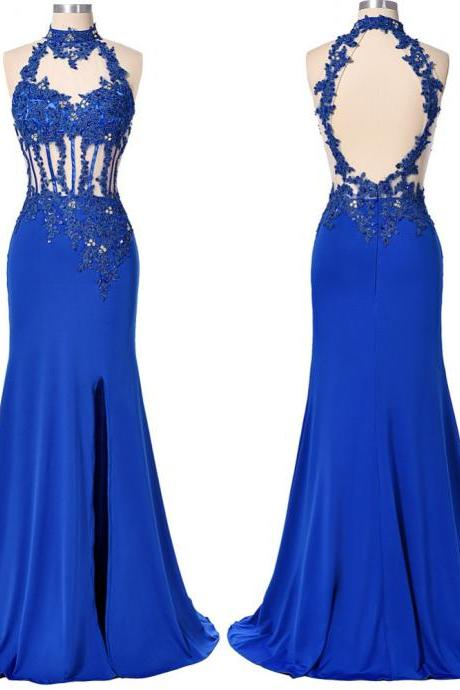 Prom Dresses,royal blue Prom Dresses, 2017 Prom Dresses,royal blue Prom Dresses,lace Evening Dress 2016,Formal Prom Dress,Long Evening Dress