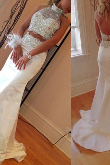 New Arrival Prom Dresses,Prom Dresses,2 pieces Evening Dresses,Sweet 16 dresses,Graduation Gowns,white prom Dresses