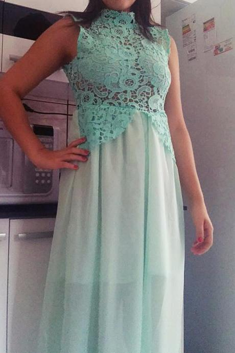 Lace Prom Dress,Long Prom Dresses,Formal Evening Dress,Women Dress,A Line evening gowns