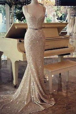 Sexy Mermaid Evening Dress,Sequins Prom Dresses,Mermaid Prom Dresses,Long Prom Dresses,Sequin Prom Dress