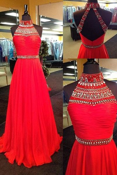 2017 New Arrival Sexy Long Prom Dresses Red Evening Party Dress,Red Prom Gowns,Evening Gowns