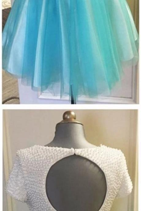 Homecoming Dresses, Charming Prom Dress,Lovely Cute Prom Dress,Sexy Prom Gown,white homecoming gown,2 pieces prom gowns