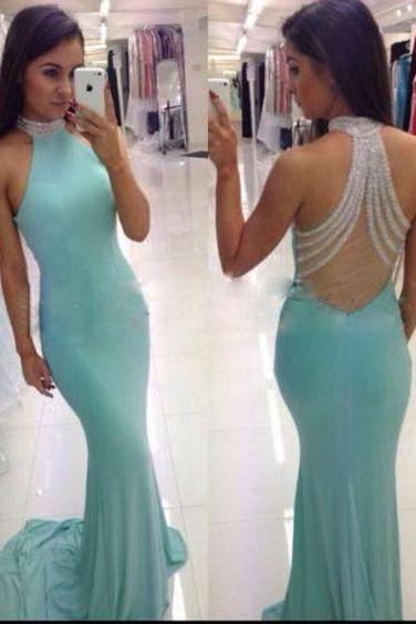 Sexy Prom Dress,New Prom Dresses,Prom Dress,Prom Dresses,Charming Prom Dress,Mint Green Prom Gown For Teens