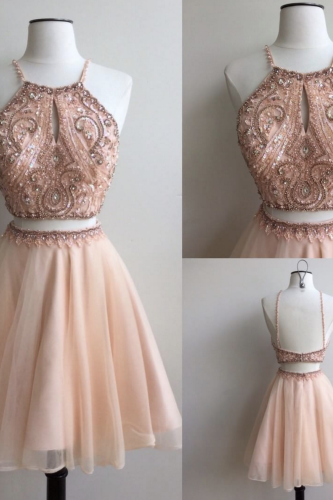 2 piece Homecoming Dresses, Charming Prom Dress,Lovely Cute Prom Dress,Sexy Prom Gown,homecoming gown,2 pieces prom gowns