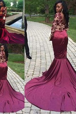 Mermaid Sexy Long Prom Dress,Evening Dress,Prom Dresses