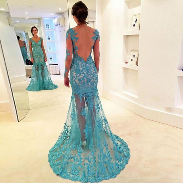 Charming Prom Dress,New Prom Dress,Long Prom Dresses, Lace Prom Dress, Backless Prom Dresses