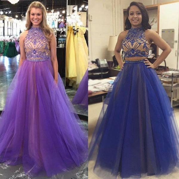 New Arrival Women Dress,2 pieces Prom Dresses, 2 piece Prom Dress, Tulle Prom Dresses