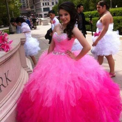 2017 Charming Long Prom Dress,Strapless Prom Dress,Tulle Prom Dress,Charming Prom Dress,Long Prom Dress