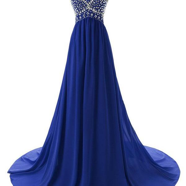 Simple Bridesmaid/Prom Dresses,chiffon Prom Dresses,red prom gowns,royal blue evening gowns