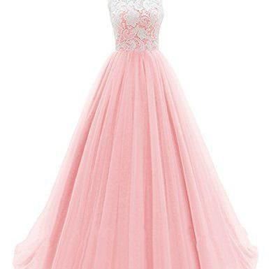 new fashion Prom Dresses,Prom Dresses,Charming Prom Dress,Sexy Prom Dress,pink Prom Dress,Long Evening Dress,lace Formal Gown