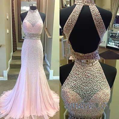 new fashion Prom Dresses,Prom Dresses,Charming Prom Dress,Sexy Prom Dress,pink Prom Dress,Long Evening Dress,backless Formal Gown