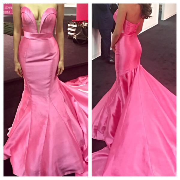 2017 New Arrival Pink Prom Dress,Long Prom Dress,Prom Gowns,Prom Evening Dress,Evening Dress,Formal Dress,Party Dress,Prom Dress 2016,Mermaid Prom Dress