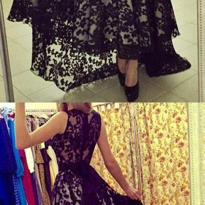 Long Dress prom dresses,evening gowns,Lace prom gowns,black prom gowns,new style fashion prom gowns